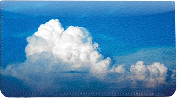 Clouds in the Sky Leather Cover