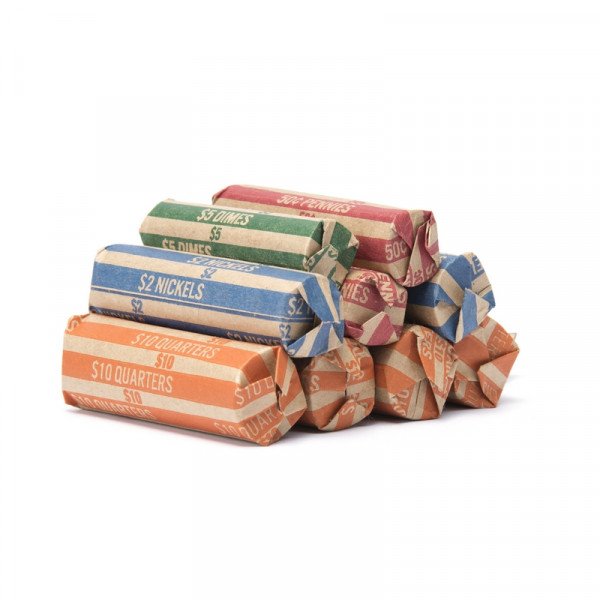 300 Assorted Flat Striped Coin Wrappers