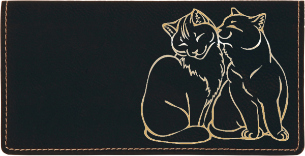 Purrfect Love Engraved Leather Cover