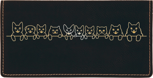 Cat Tails Engraved Leather Cover | CLE-00003
