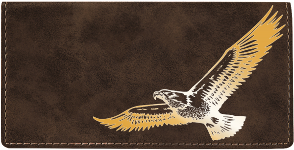 Soaring Eagle Engraved Leather Cover