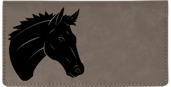 Majestic Horse Engraved Leather Cover