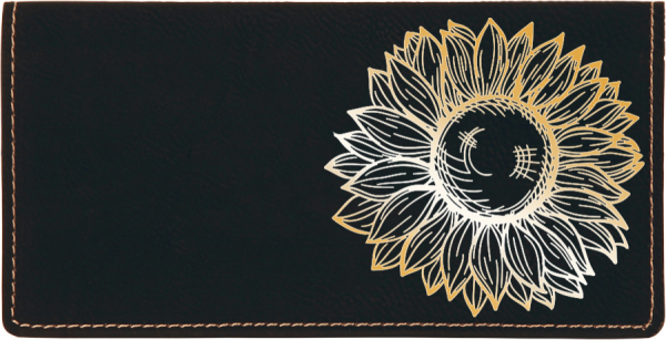 Sunflower Engraved Leather Cover