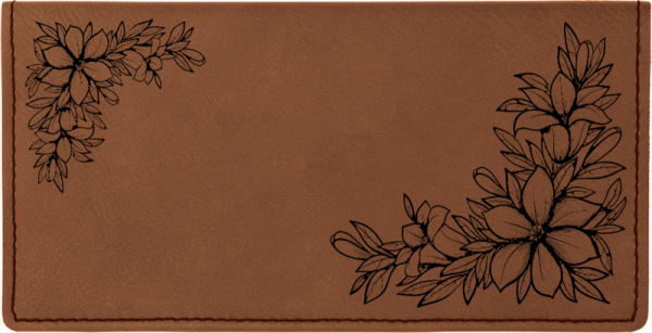 Floral Filigree Engraved Leather Cover