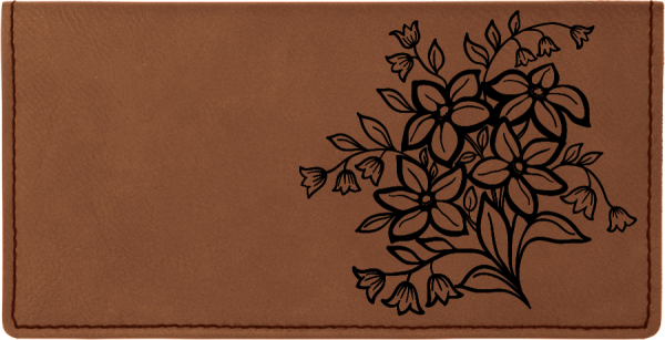Spring Flowers Engraved Leather Cover