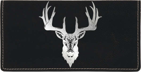Big Horned Buck Engraved Leather Cover