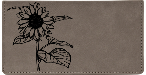 Joyous Sunflower Engraved Leather Cover