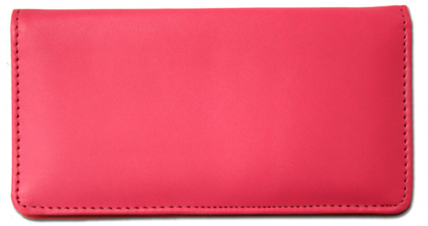 Hot Pink Smooth Leather Checkbook Cover | CLP-PIN02