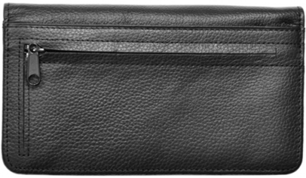 Black Leather Zippered Cover | CLZ-BLA01