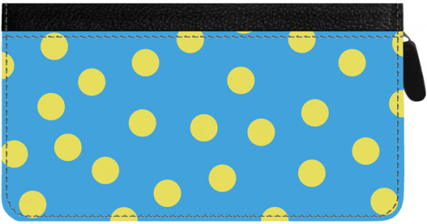Dots Zippered Checkbook Cover | CLZ-GEO01