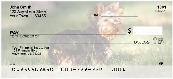 Yorkshire Terriers Personal Checks | DOG-24