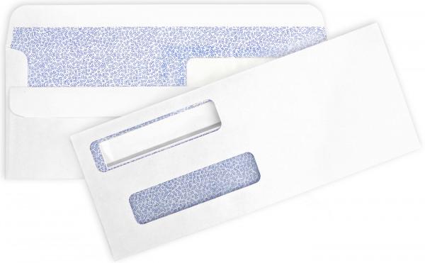 Double Window Self-Sealing Envelopes