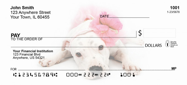 Pit Bull Puppies Personal Checks | GCA-02