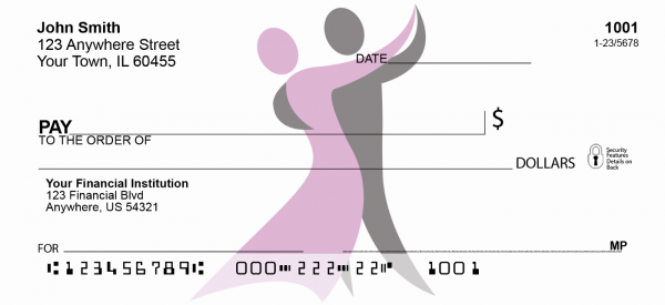Dancer Silhouette Personal Checks | GCA-15