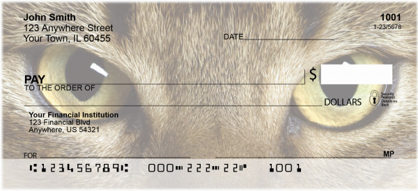 Abyssinian Cats Personal Checks | GCA-53