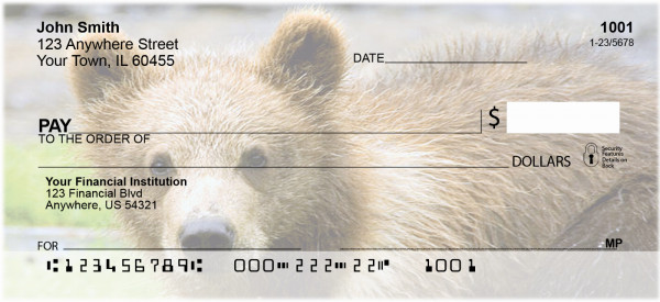 Grizzly Bear Cubs Personal Checks | GCB-22