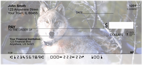 Wolves Personal Checks | GCB-52