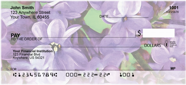 Lilac Pocahontas 2 in Oil Personal Checks | GCL-12