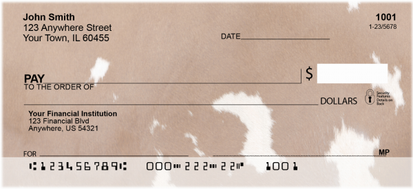 Cow Prints Personal Checks | GEO-31