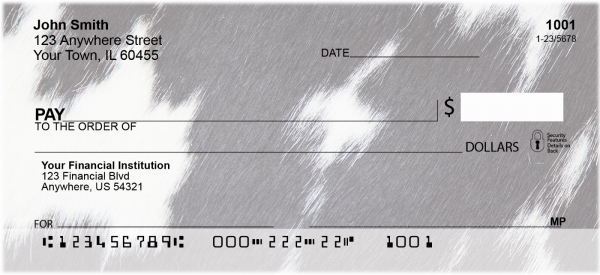 Cow Prints In Black And White Personal Checks