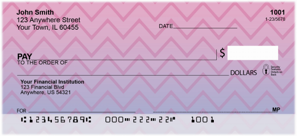 Sunset Chevron Personal Checks | GEP-001