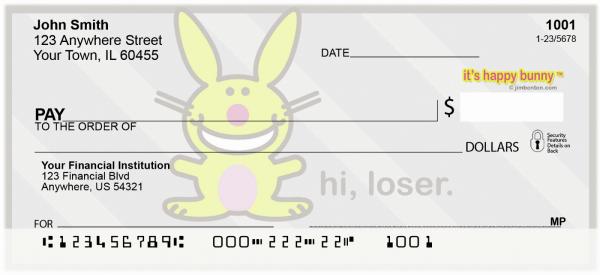 It's Happy Bunny More Insults Personal Checks