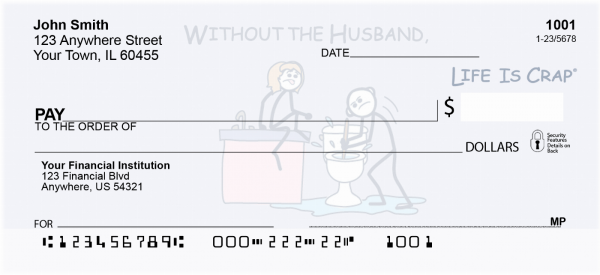 My Husband's Life Is Crap Personal Checks | LIC-19