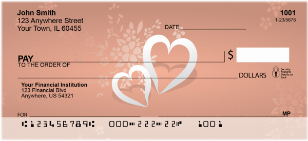 Pair of Hearts Personal Checks | LOV-12