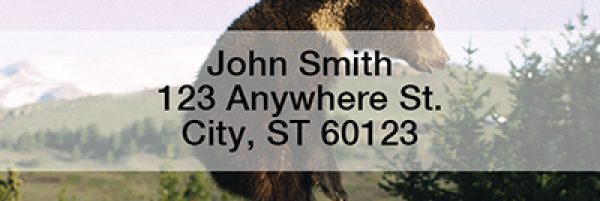 Bears in the Wild Rectangle Address Labels | LRANI-10