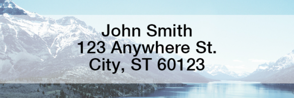 Mountain Views Rectangle Address Labels | LREVC-17