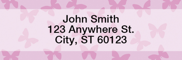 Butterflies Rectangle Address Labels | LRGEO-04