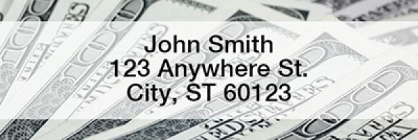 Money Rectangle Address Labels