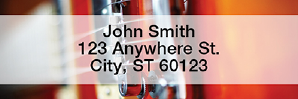 Guitars Rectangle Address Labels
