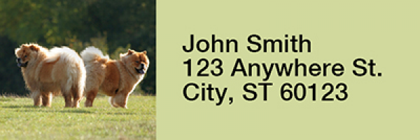 Chow Chow Rectangle Address Labels