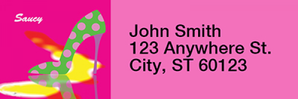 Hot Pink And Saucy Rectangle Address Labels