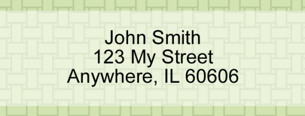 Green Safety Rectangle Address Label