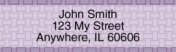 Purple Safety Address Labels | LRVAL-27