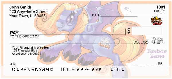 Flighty By Little Demon Personal Checks | MLD-16