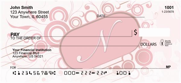 Stylish Monogram N Personal Checks