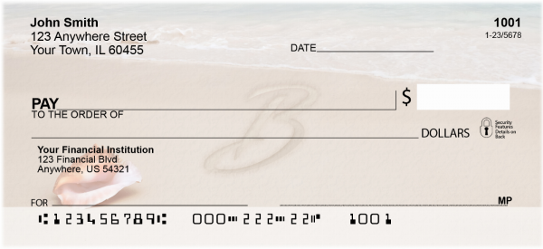 Sand Written Monogram B Personal Checks | MONO-07B