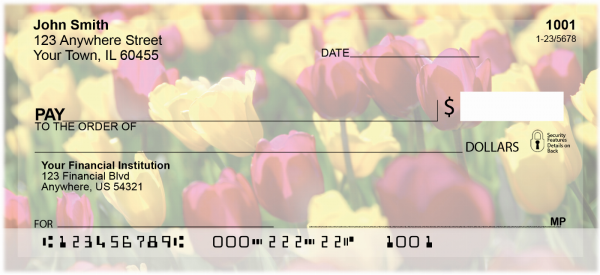 Tulips Personal Checks | NAT-06