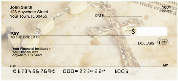 Catholic Symbols Of Faith Personal Checks | REL-14