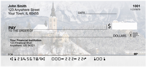 Churches in the Winter Personal Checks | REL-29