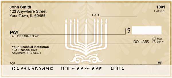 Menorah Checks | REL-46
