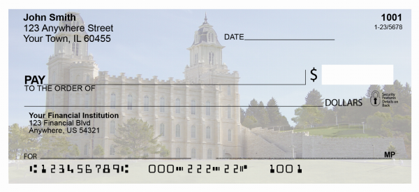 Manti Temple Personal Checks | TEM-08