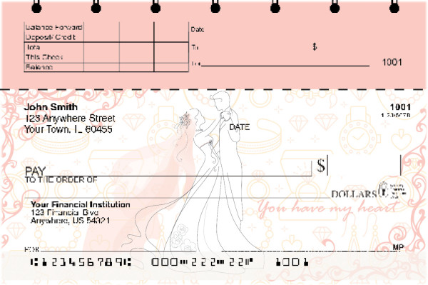Everlasting Love Top Stub Personal Checks | TSLOV-28
