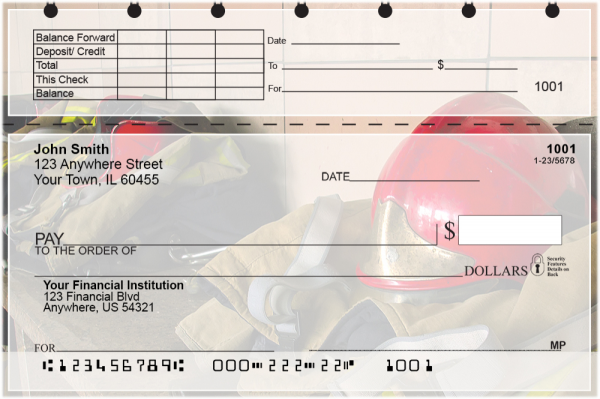 Firefighting Equipment Top Stub Personal Checks | TSPRO-51