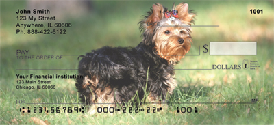 Yorkshire Terrier Checks - Yorkshire Terrier Personal Checks