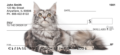 Maine Coon Cats Personal Checks