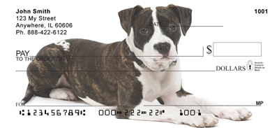 Staffordshire Terrier Personal Checks